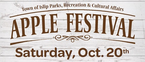 A banner image announcing the 2018 Apple Festival to be held October 20th